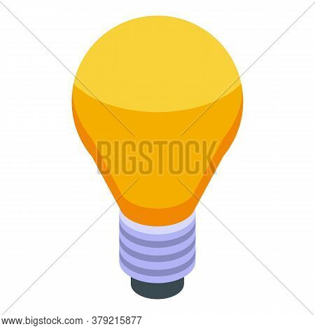 Breakthrough Idea Bulb Icon. Isometric Of Breakthrough Idea Bulb Vector Icon For Web Design Isolated