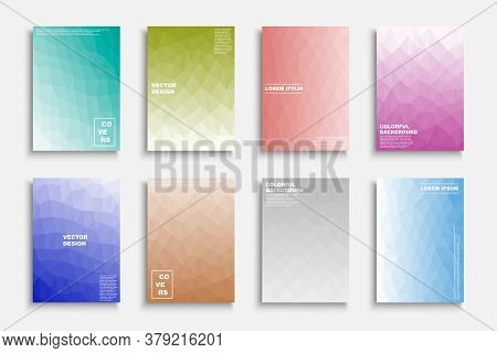 Collection Of Colorful Gradient Abstract Covers, Templates, Backgrounds, Placards, Brochures, Banner