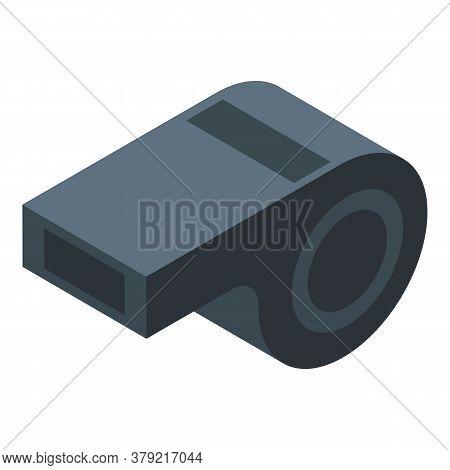 Gym Black Whistle Icon. Isometric Of Gym Black Whistle Vector Icon For Web Design Isolated On White