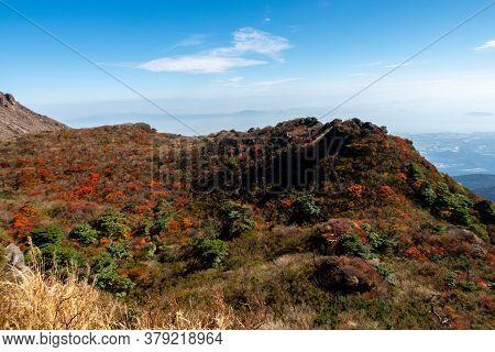 Landscape From Unzen Nita Pass Trail In Unzen-amakusa National Park, Shimabara Peninsula, Nagasaki P