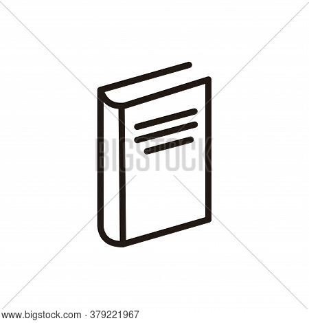 Book Icon Vector. Book Icon Isolated On White Backgroud. Book Icon Simple And Modern