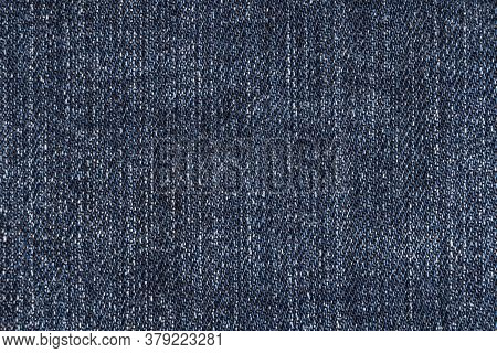 Blue Jeans Fabric Texture Background. Denim Jeans Texture. Closeup Texture And Pattern Of Jeans Fabr