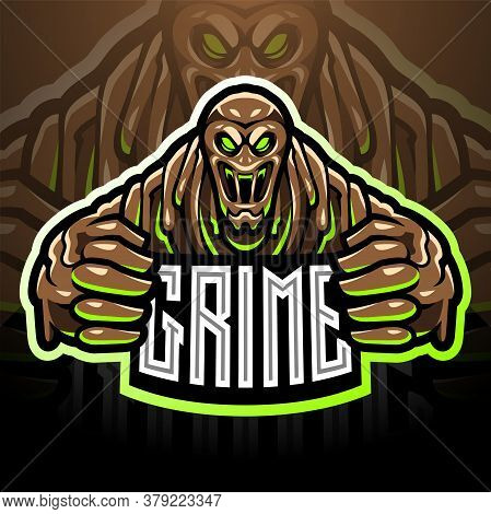 The Grime Esport Mascot Logo With Text