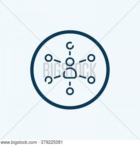 Hierarchical Structure Icon Isolated On White Background From Analytics Collection. Hierarchical Str