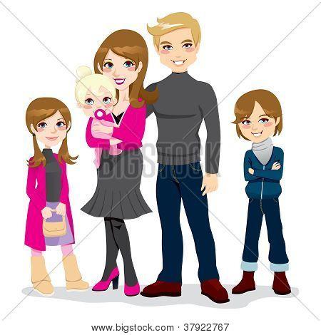 Happy Beautiful Family