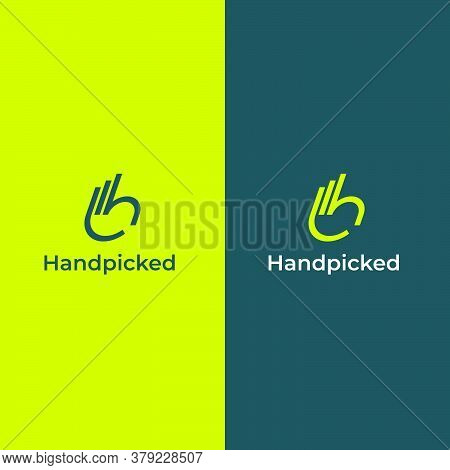 Logo Formed From Lines That Forms The Fingers And A Hand With The Letter H. Elegant, Modern, Youthfu
