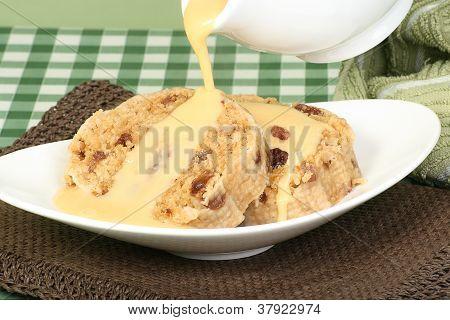 Suet Pudding And Custard