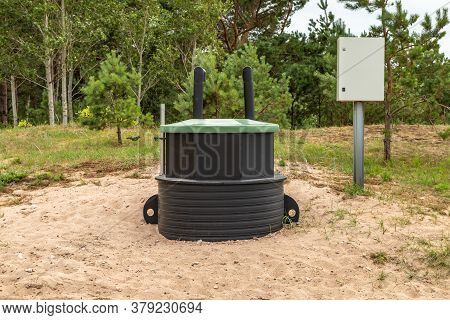 Septic Tank Waste System. Water Treatment Tank.