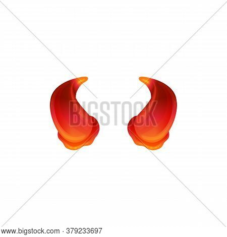 Glowing Red Devil Horns - Evil Halloween Costume Element