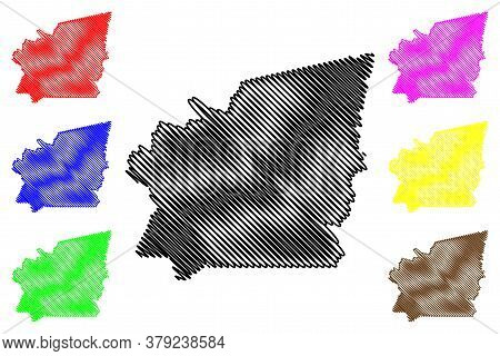 Idaho County, Idaho (u.s. County, United States Of America, Usa, U.s., Us) Map Vector Illustration,