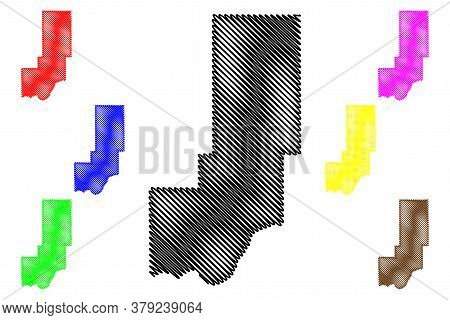 Minidoka County, Idaho (u.s. County, United States Of America, Usa, U.s., Us) Map Vector Illustratio