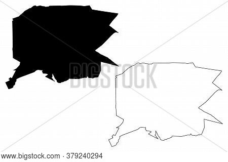 Uberlandia City (federative Republic Of Brazil, Minas Gerais State) Map Vector Illustration, Scribbl