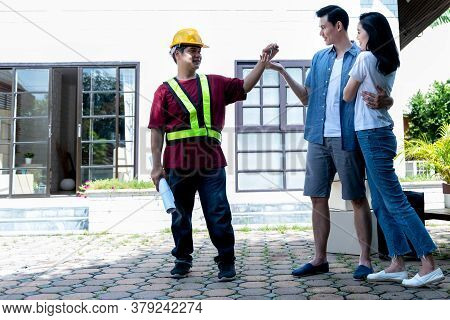 The Engineer Remodeled, Renovated The House, Handed The Keys To An Asian Couple, Husband And Wife Wh