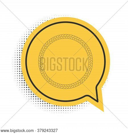 Black Rope Frame Icon Isolated On White Background. Frames From Nautical Rope. Round Marine Rope For
