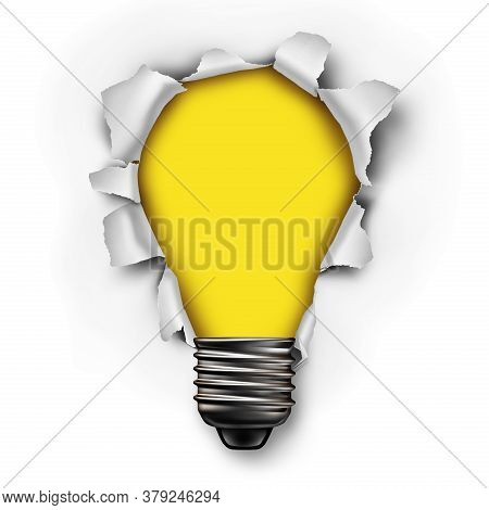 Idea Concept As A Creative Symbol For Innovation With 3d Illustration Elements.