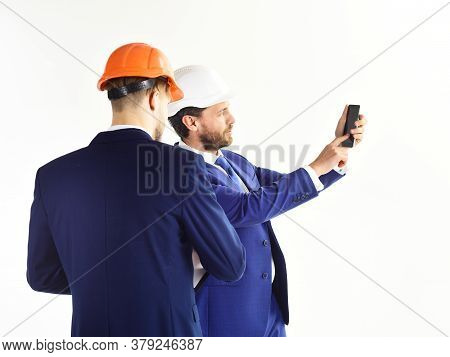 Engineer And Building Inspector. Profession, Management, Work, Building, Engineering Concept.