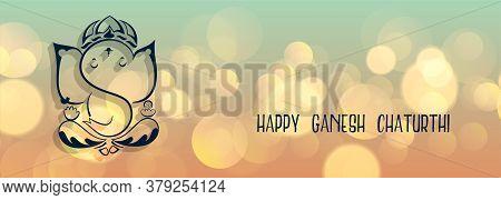 Lovely Lord Ganesha Design Banner For Ganesh Chaturthi