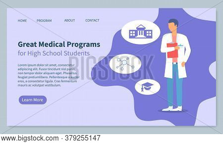 Landing Page Of Website, Great Medical Programs For High School Students, Medical Education. Doctor