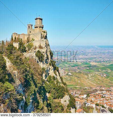 The first tower of San Marino on Titano mount, Respublic of San Marino