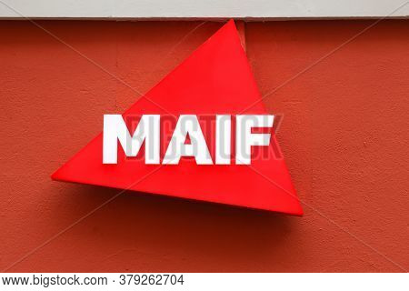 Grenoble, France - September 10, 2019: Maif Logo On A Wall. Maif Is A French Mutual Insurance Compan