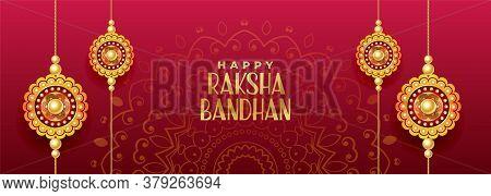 Hindu Festival Of Rakshabandhan Banner Vector Design Illustration
