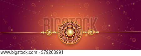 Lovely Rakhi Design For Raksha Bandhan Festival Vector Design Illustration