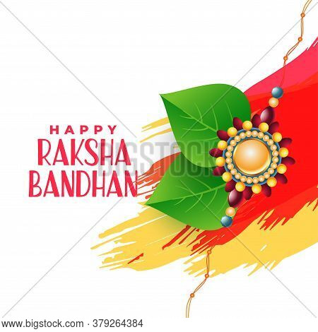 Brother And Sister Bonding Raksha Bandhan Background Vector Design Illustration