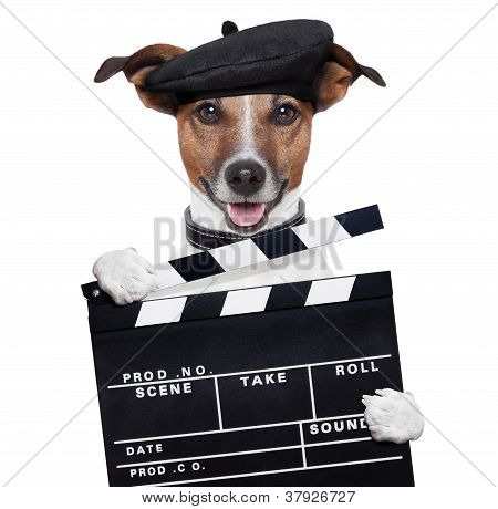 Movie Clapper Board Director Dog