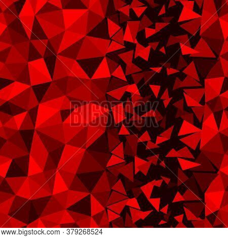 Abstract Multicolor Ruby Red Background. Vector Polygonal Design