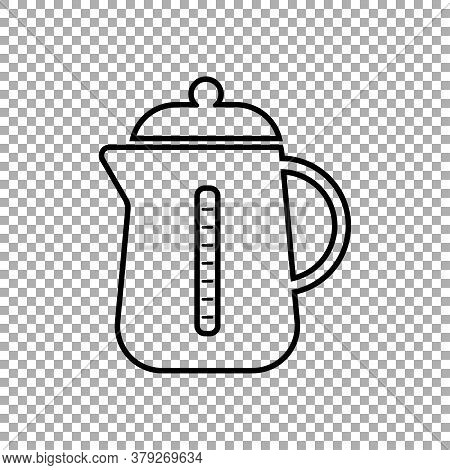 Kettle Icon Isolated On Transparent Background. Vector Illustration