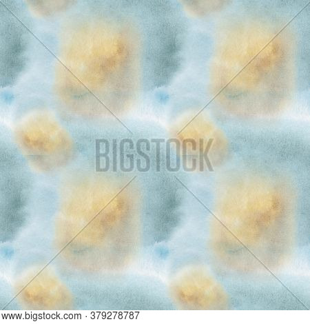 Hand Painted Watercolor Abstract Background Seamless Pattern. Aquarelle Painted Paper Textured Canva