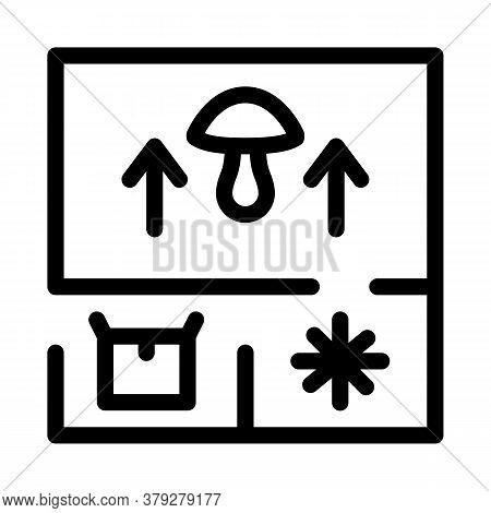 Mushroom Farm Planning Icon Vector. Mushroom Farm Planning Sign. Isolated Contour Symbol Illustratio