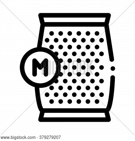 Mushroom Spawn Bag Icon Vector. Mushroom Spawn Bag Sign. Isolated Contour Symbol Illustration