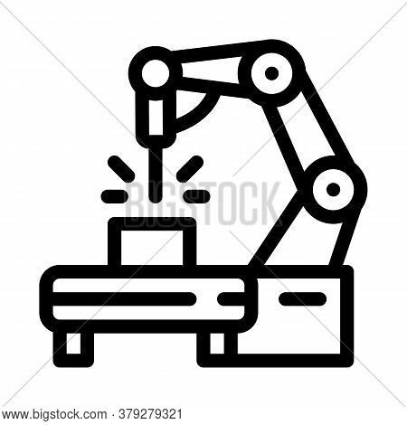 Manufacturing Engineering Machine Icon Vector. Manufacturing Engineering Machine Sign. Isolated Cont