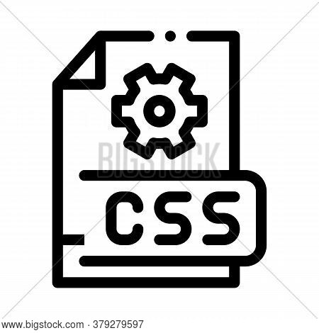 Front End Css Code Icon Vector. Front End Css Code Sign. Isolated Contour Symbol Illustration