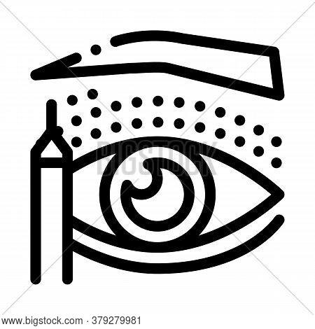 Eyelid Surgery Design Phase Icon Vector. Eyelid Surgery Design Phase Sign. Isolated Contour Symbol I