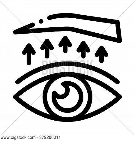 Eyelid Surgery Treatment Icon Vector. Eyelid Surgery Treatment Sign. Isolated Contour Symbol Illustr