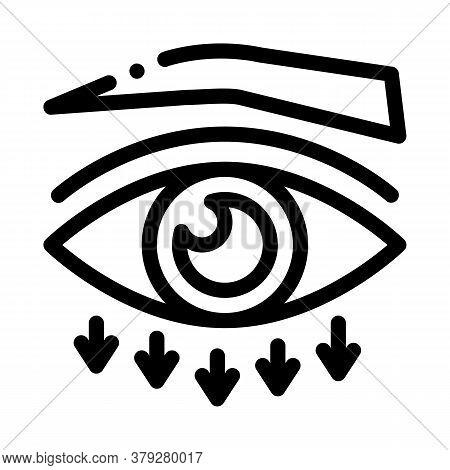 Eyelid Plastic Surgery Icon Vector. Eyelid Plastic Surgery Sign. Isolated Contour Symbol Illustratio