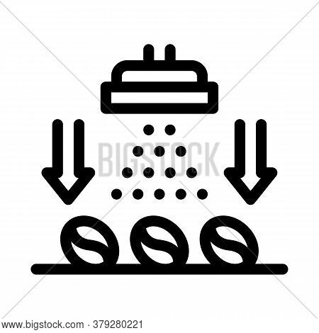 Coffee Beans Freezing Icon Vector. Coffee Beans Freezing Sign. Isolated Contour Symbol Illustration