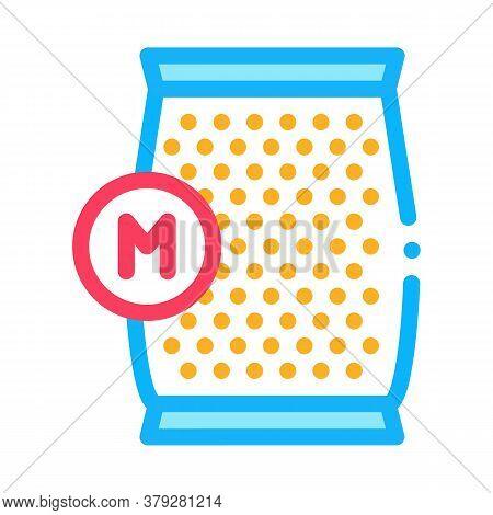 Mushroom Spawn Bag Icon Vector. Mushroom Spawn Bag Sign. Color Symbol Illustration