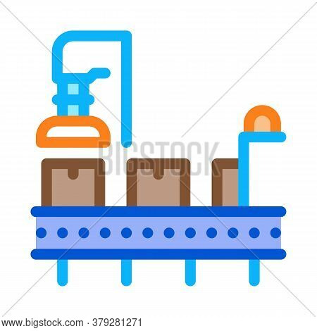 Manufacturing Process Icon Vector. Manufacturing Process Sign. Color Symbol Illustration
