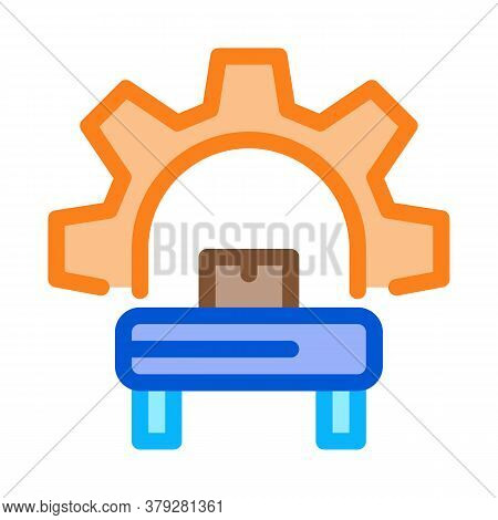 Manufacturing Equipment Icon Vector. Manufacturing Equipment Sign. Color Symbol Illustration