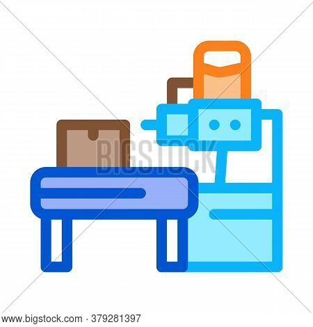 Industrial Manufacturing Icon Vector. Industrial Manufacturing Sign. Color Symbol Illustration