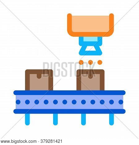 Industry Manufacturing Icon Vector. Industry Manufacturing Sign. Color Symbol Illustration