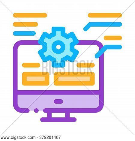 Web Site Technician Characteristics Icon Vector. Web Site Technician Characteristics Sign. Color Sym