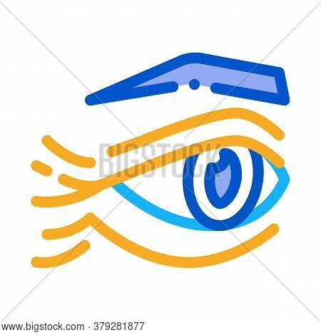Eyelid Wrinkles Icon Vector. Eyelid Wrinkles Sign. Color Symbol Illustration