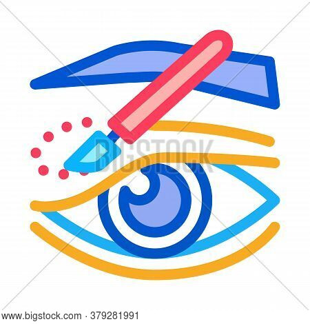 Eyelid Surgery Incision Icon Vector. Eyelid Surgery Incision Sign. Color Symbol Illustration