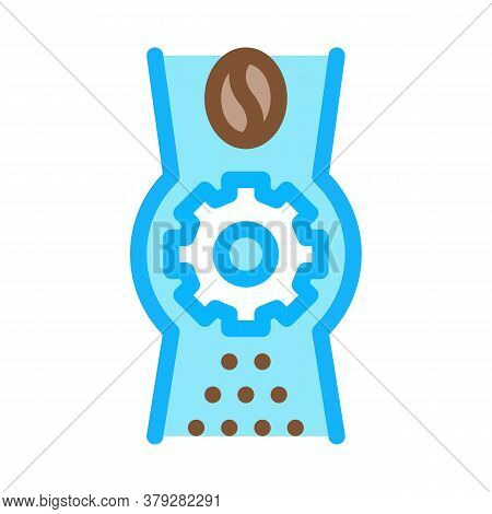 Coffee Grinder Mechanism Icon Vector. Coffee Grinder Mechanism Sign. Color Symbol Illustration