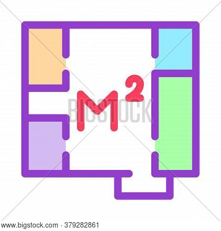 Apartment Planning Icon Vector. Apartment Planning Sign. Color Symbol Illustration