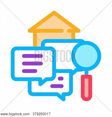 Real Estate Agent Messages Icon Vector. Real Estate Agent Messages Sign. Color Symbol Illustration